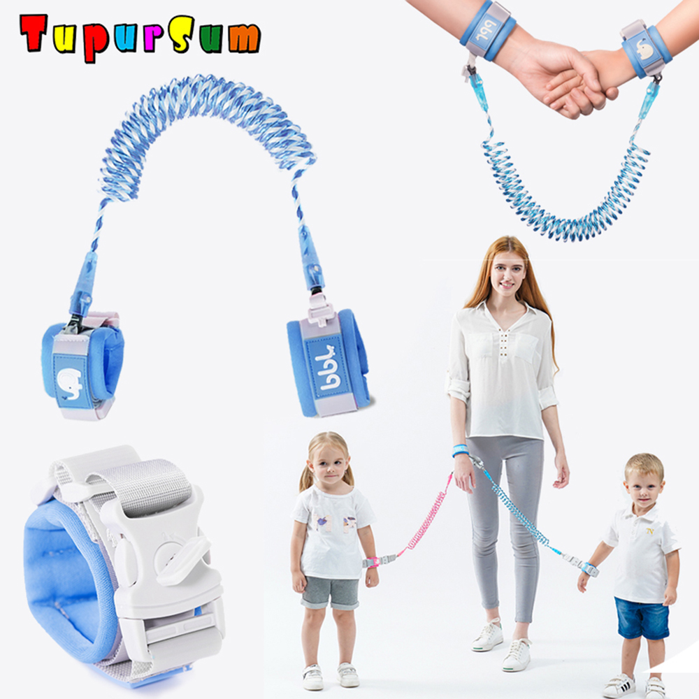 2 5m Fashion Toddler Kids Baby Safety Security Lock Walking Harness Anti lost Strap Wrist Leash Children Hand Belt Rope Length in Cabinet Locks Straps from Mother Kids