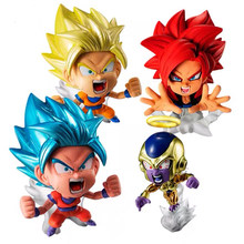 Original Bandai Dragon ball super Heroes gashapon Sohn Goku Frieza Gogeta mini figur set PVC modell figurine spielzeug(China)