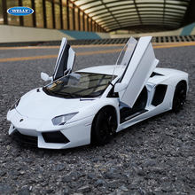 Welly 1:18 Lamborghini LP700-4 witte legering model auto simulatie auto decoratie collection gift toy spuitgieten model jongen speelgoed(China)