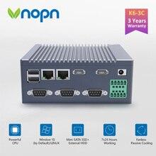 K6 3C بدون مروحة N2940 رباعية النواة الصناعية IoT الكمبيوتر 1 * GPIO 3 * RS232 كوم 2 * RJ45 LAN 2 * HDMI 6 * USB واي فاي 4K كمبيوتر مصغر ويندوز لينكس