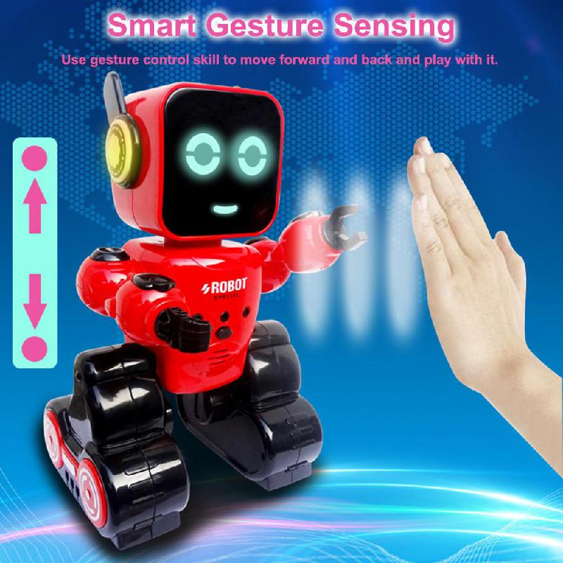 Intelligent Induction Robot Remote Control Rc Robot Coin Storage Tank With Gesture Sensor Gift For Children Kids Educational Toy image