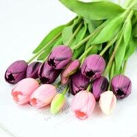 5Pcs/bunch Künstliche Tulpen Bouquet Real Touch Silikon Gefälschte Blumen für Home Garten Wohnzimmer Dekoration Hochzeit Party