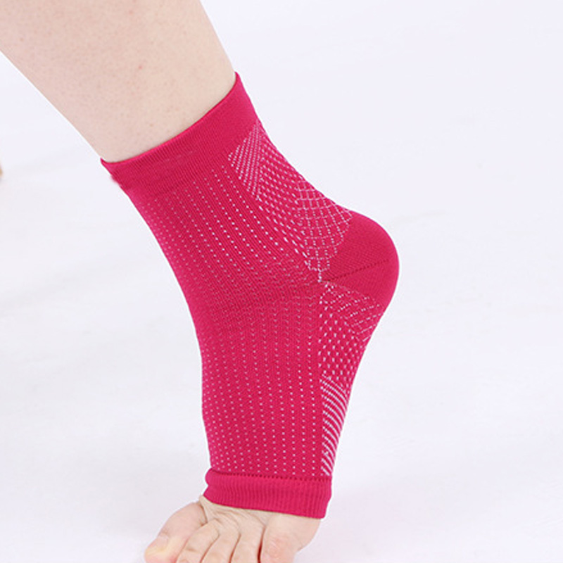 Anti Fatigue Compression Foot Sleeve Ankle Support Running Cycle Basketball Sports Socks Outdoor Men Ankle Brace Sock