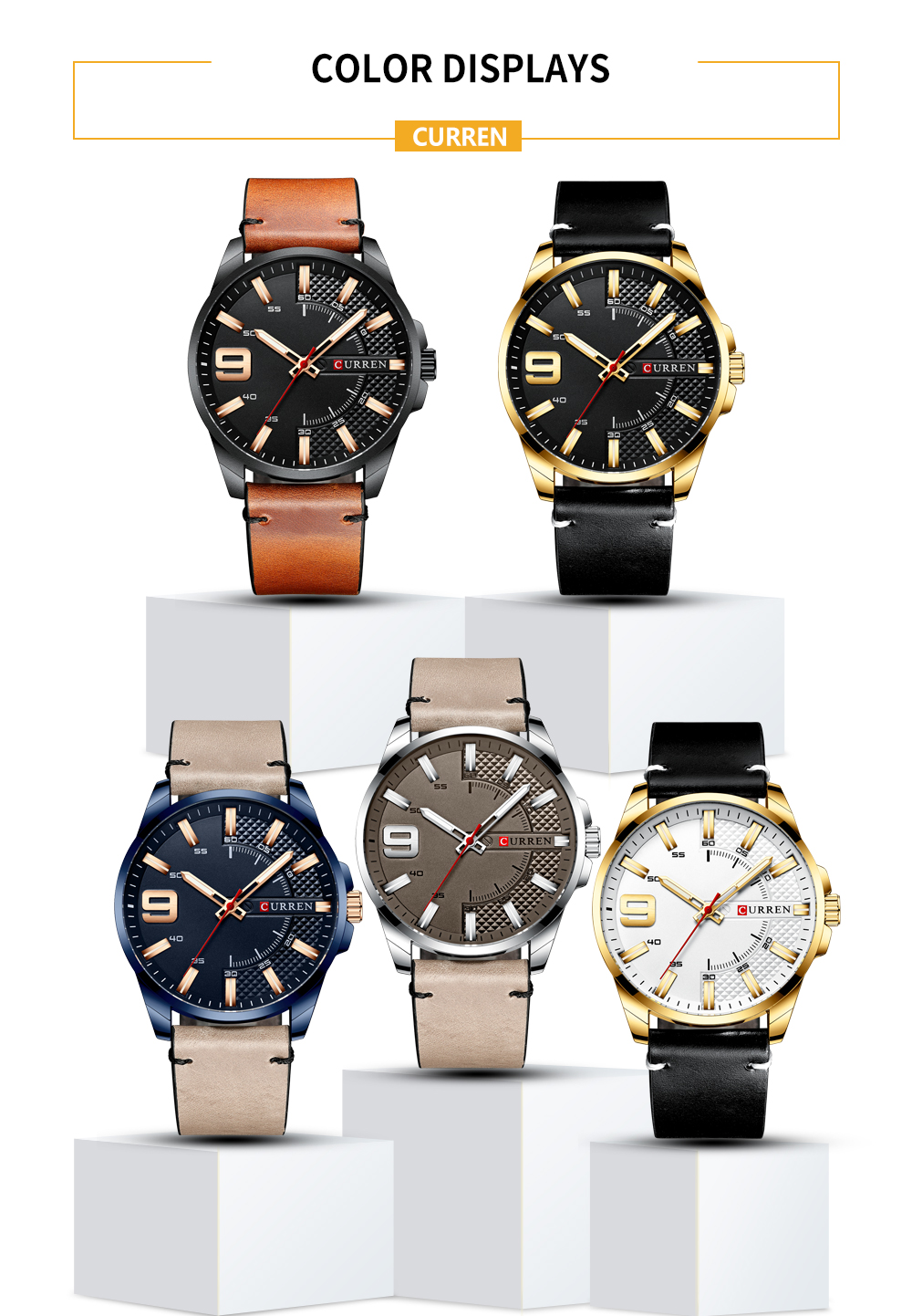 H506524d257cc40b39a2a944835109f61j Top Brand Luxury Business Watch Men CURREN Watches