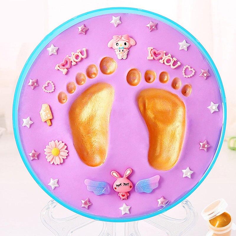 Environmental-friendly Baby Care Non-Toxic Baby Handprint Footprint Imprint Kit Baby Souvenirs Casting Newborn Footprint Inkpad