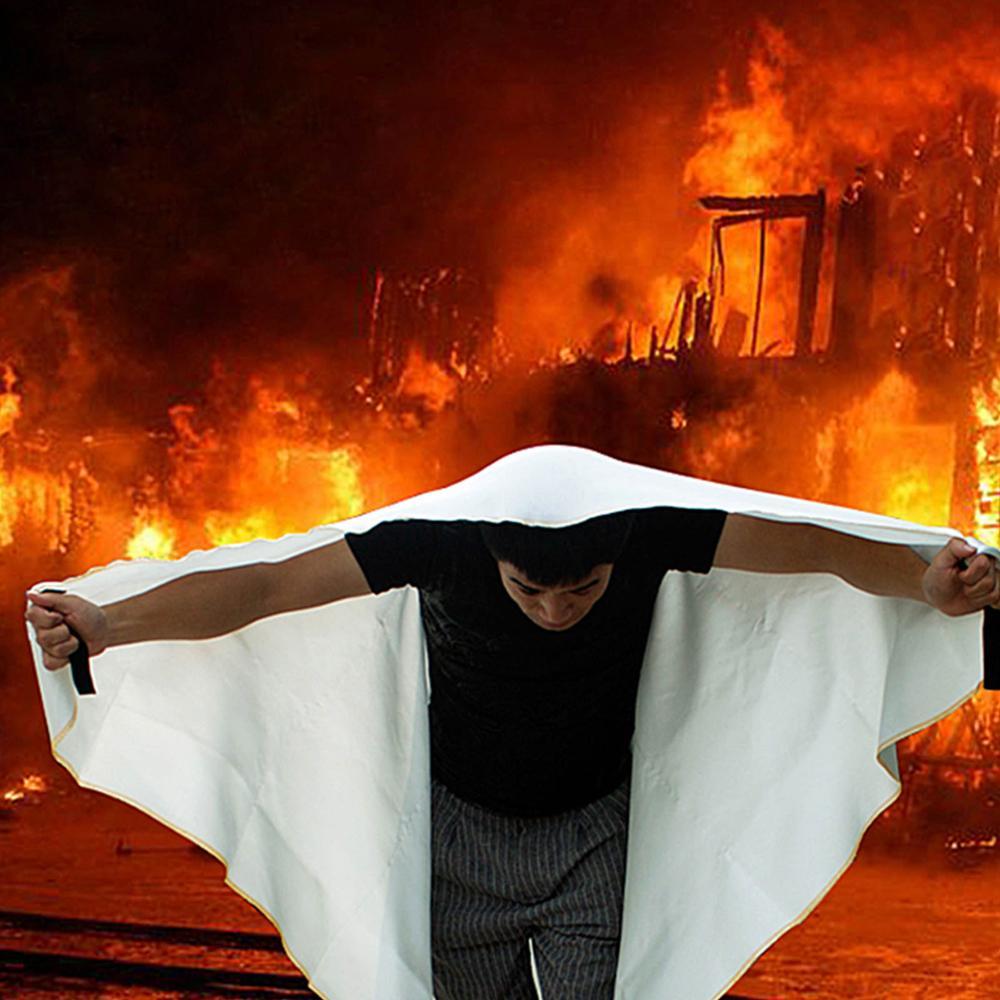 1 x 1 Meter Fire Blanket Fiberglass Fireproof Kitchen Caravan Campers Emergency Survival