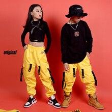 Новая одежда в стиле хип-хоп для детей; сценический костюм; уличная одежда; Детские костюмы для джазовых танцев; одежда для бальных танцев; DQS3065