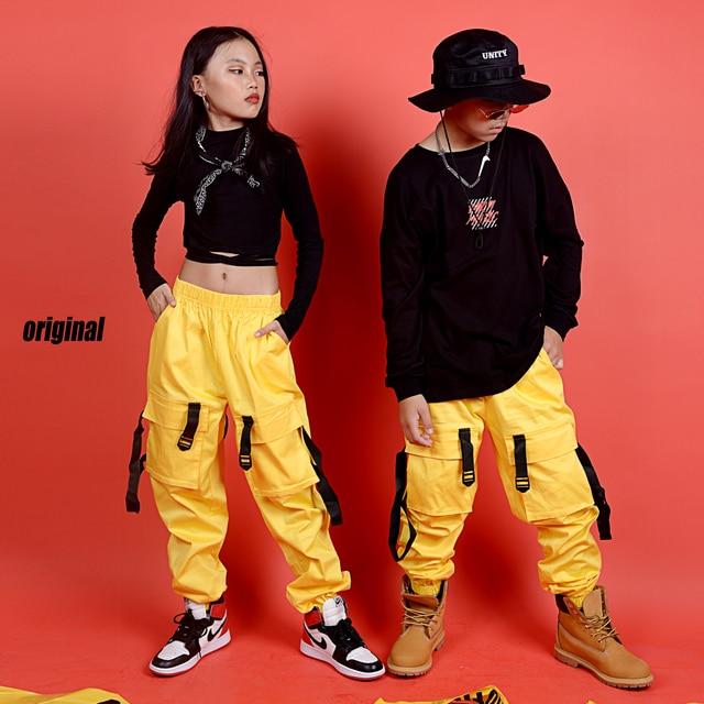 New Hip Hop Abbigliamento Per Bambini Costume di Scena di Strada di Usura Dei Bambini di Jazz Costumi di Ballo di Sala Da Ballo di Performance di Danza Vestiti DQS3065