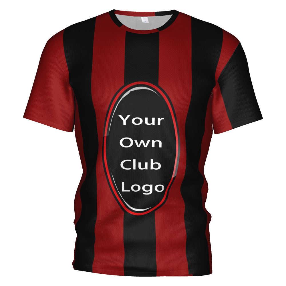 新acミランサッカーユニフォームサッカー 3d tシャツacミラントラックスーツ衣装acミラントレーナートレーニングキットサッカーtシャツ