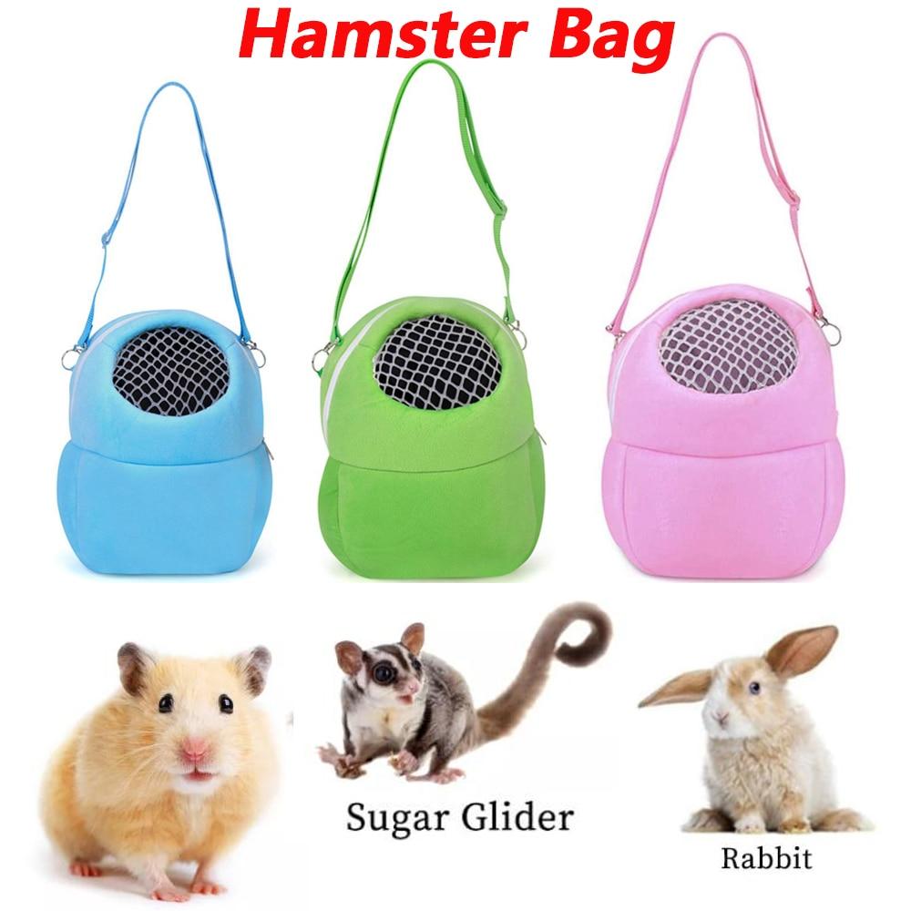 Переноска для домашних животных, клетка для кролика, хомяка, шиншиллы, зимние теплые мешки для путешествий, клетка для морской свинки, возду...