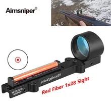 Tactical Green Fiber Sight Scope Mount Holographic Ultralight Black Fit Rib Rail