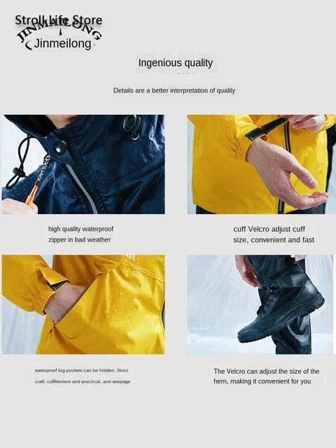 Women Raincoat Rain Pants Suit Set Split Adult Waterproof Suit Electric Motorcycle Rain Coat Poncho Coat Male Rainwear Gift 4