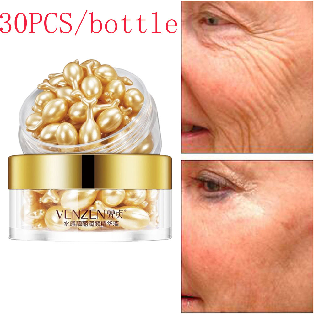 1 set Hyaluronic Acid Capsules Anti-aging Vitamin E Serum Spot Acne Removing Whitening Cream Capsule Repair Liquid Face Care