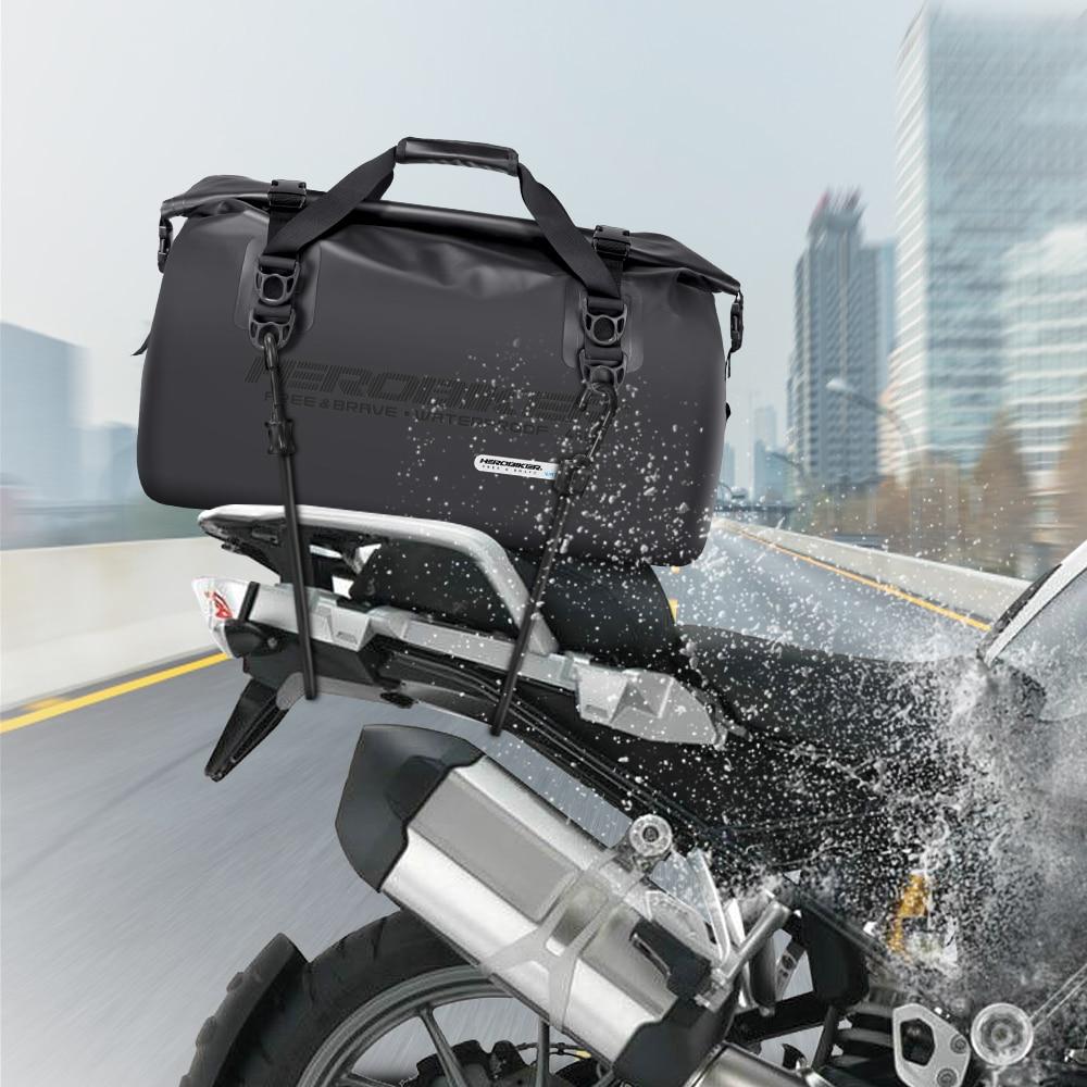 HEROBIKER, водонепроницаемая мотоциклетная сумка, для улицы, ПВХ, сухая сумка, 45л, наплечный гоночный рюкзак, сумка для шлема, для пеших прогулок, ...