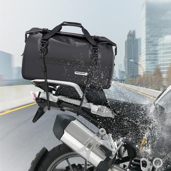 HEROBIKER wodoodporna torba na motocykl zewnątrz pcv wodoodporna sakwa torba 45L wyścigi na ramię plecak kask torba turystyka jazdy zestawy podróżne tanie i dobre opinie 62cm Nylon Oxford Cloth PVC Plecaki 1 2kg Hight capacity Waterproof 30cm 40cm Black Motorcycle Oil Fuel Tank Bag Motobike Backpack Magnetic