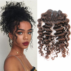 Ombre Hair Human Curly Bundles Curly Weaving for Black Women Two Tones Hair 35g/ Pcs KF BeautyU