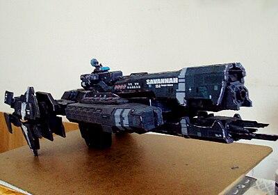 3D Paper Model Game  UNSC Savanaah Space Ship DIY Handmade Toy