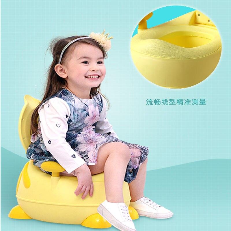 Children Padded Pedestal Pan Men And Women Baby Little Duck Cartoon Chamber Pot Infants Small Chamber Pot Anti-slip Urinal