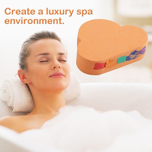 110g Rainbow Cloud Natural SPA Bath Salt Essential Oil Bomb for Moisturizes Dry Skin Bubble Massage SPA Handmade Bath Salt Bomb 1
