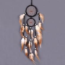 Decoración del hogar Retro Vintage cazador de sueños de plumas colgantes en la pared atrapasueños tejido regalos decorativos para la decoración de la habitación del coche