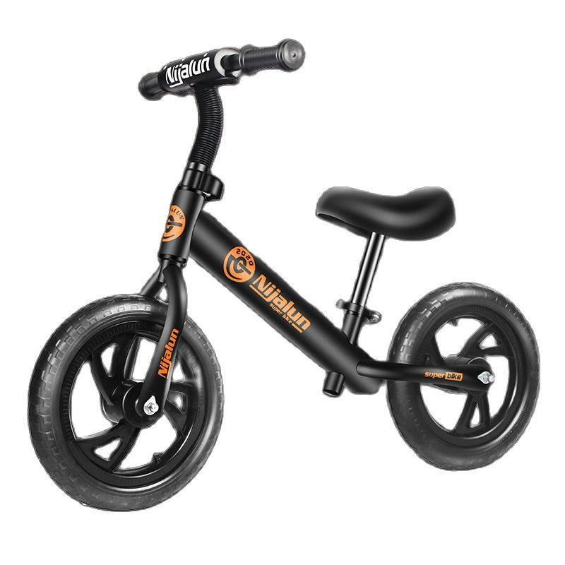 Children's Balance Bike 2--3-6 Years Old Children's Bicycle 12-inch Children's Sliding Bicycle Without Pedals