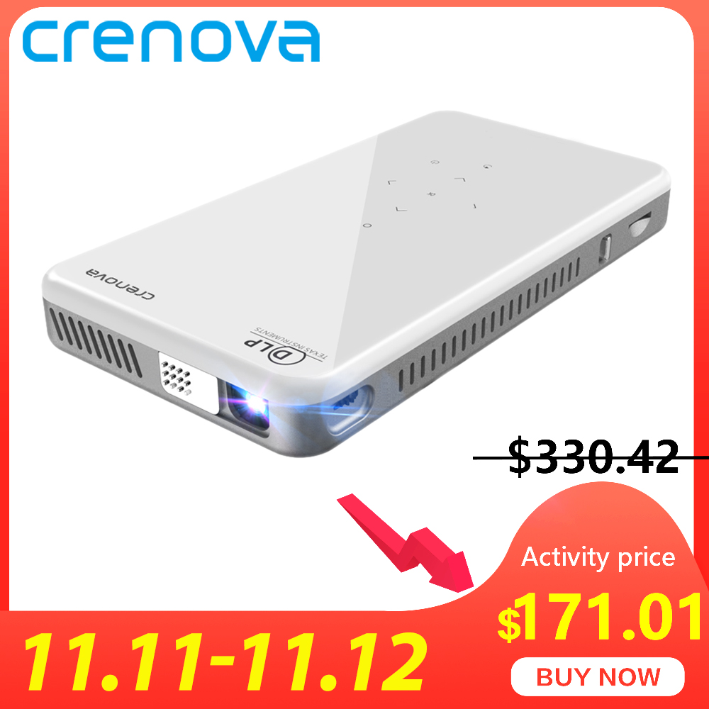 CRENOVA 2019 Newest Mini Projector X2 With Android 7.1OS WIFI Bluetooth (2G+16G), Support 4K Video Portable 3D Projector Beamer-in LCD Projectors from Consumer Electronics