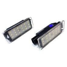 цена на 2pcs Car LED License Plate Light SMD 3528 for Renault Megane 2 Clio Laguna 2 Megane 3 Twingo Master Velsatis