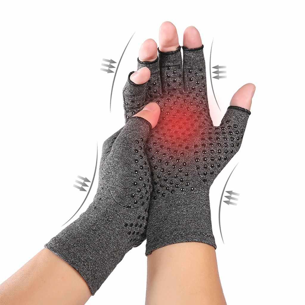 דלקת פרקים דחיסה כפפות נשים גברים ללא אצבעות משותף כאב הקלה מפרקים שגרונית דלקת מפרקים ניוונית יד יד טיפול כפפות