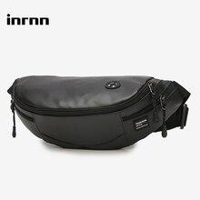 inrnn Fashion Men Waist Bag Outdoor Sports Chest Bag for Teenager Male Small Running Fanny Pack Travel Crossbody Chest Belt Bags