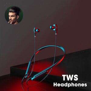 Беспроводные наушники, игровая гарнитура Bluetooth 5,0, наушники с шумоподавлением, TWS спортивные наушники с шейным ободом для смартфона