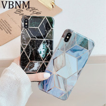 Blue Geometric Marble Phone Case for iPhone 11 Pro Max Luxury Silicone Back Cover for iPhone XR X XS Max 7 8 6 6s Plus Case Capa new iphone case for iphone 11 for iphone11 pro max 5 8 inches 6 1 inches 6 8 inches 6 6s 7 8 plus ix xr max x fashion back cover