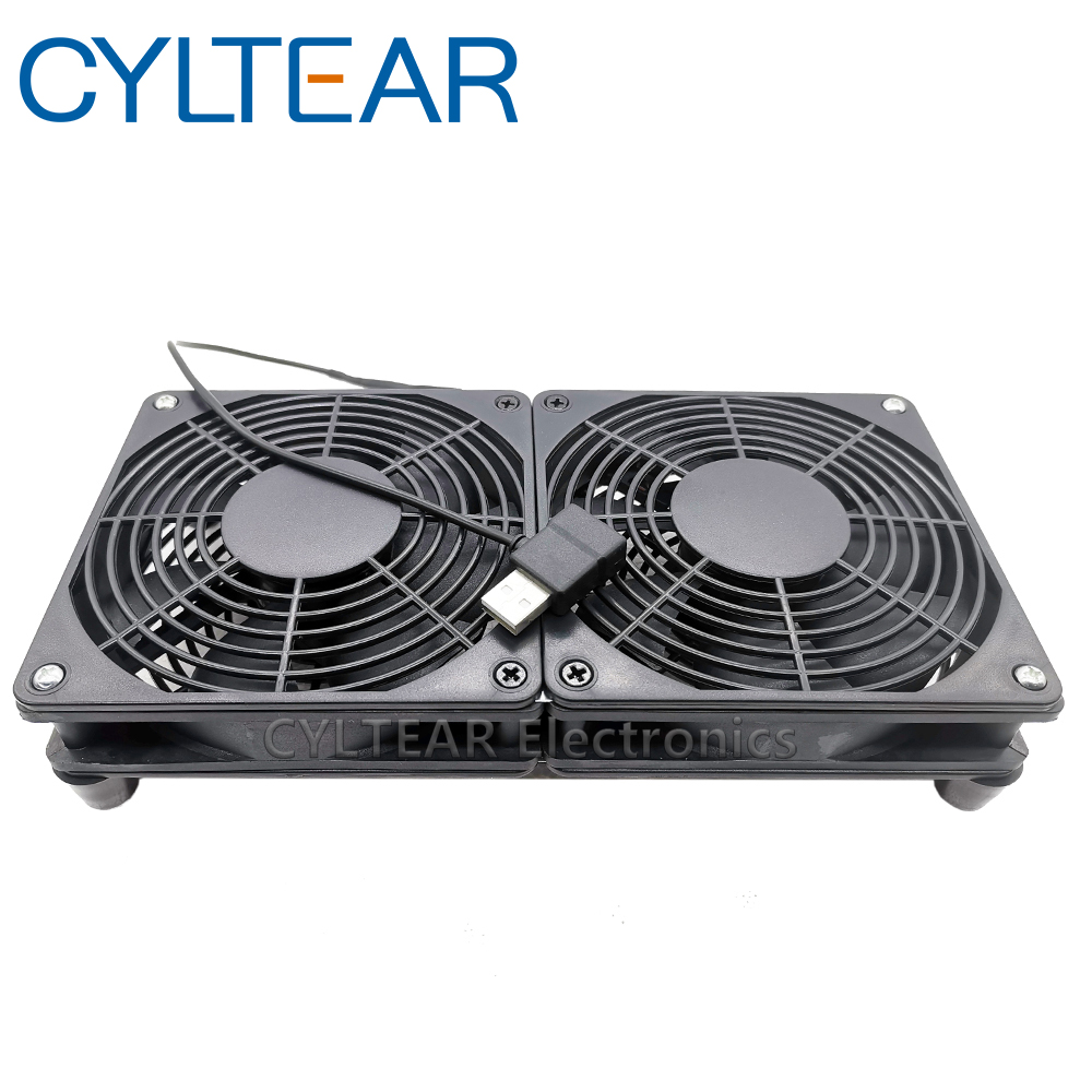 <font><b>usb</b></font> Router Cooling <font><b>Fan</b></font> DIY PC Cooler TV Box Wireless Quiet DC <font><b>5V</b></font> <font><b>USB</b></font> power 120mm <font><b>fan</b></font> 120x25mm 12CM W/Screws Protective net image