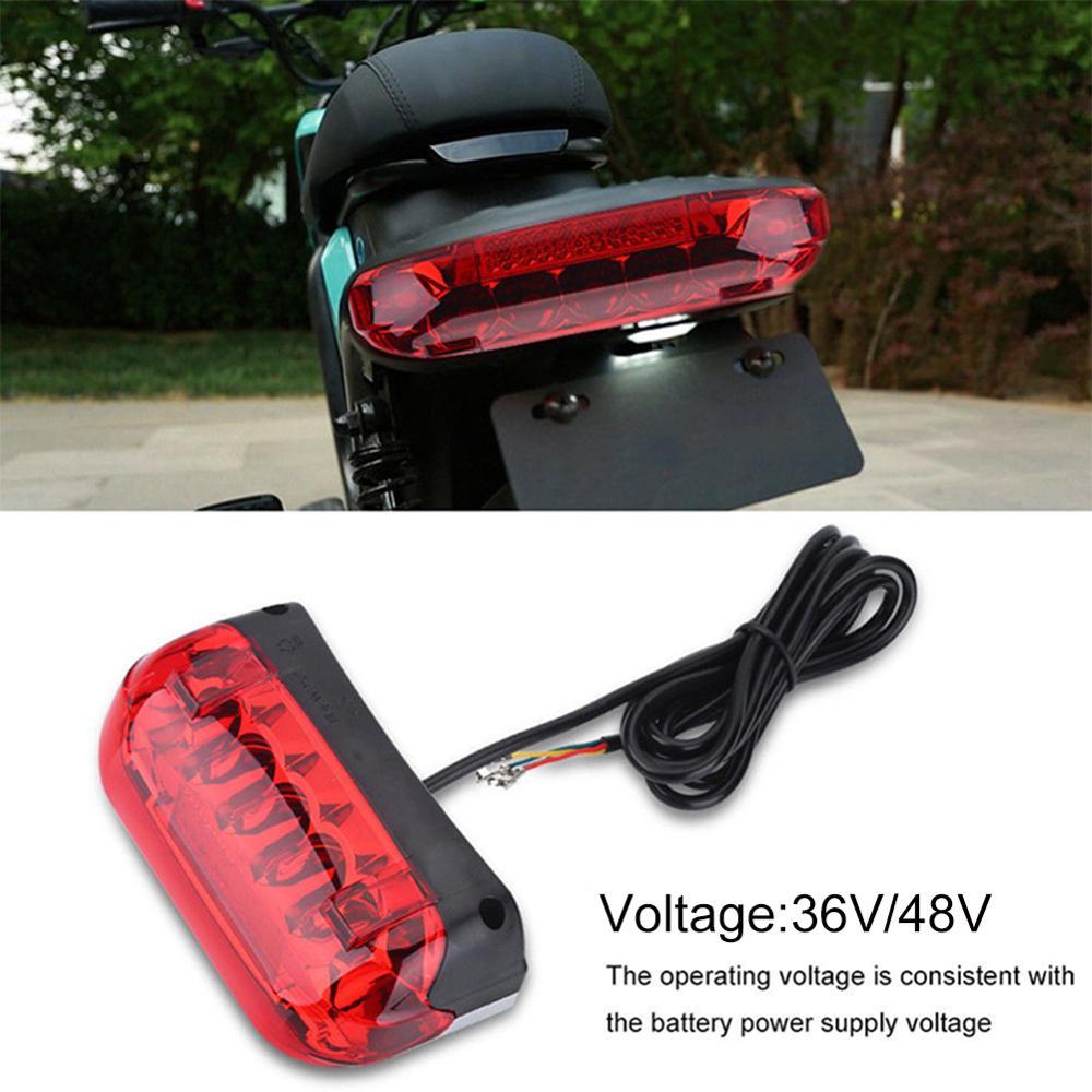 36V/48V LED Taillight Indicator Brake Light For Electric Scooters Bicycle Brake Indicator LED Rear Tail Light Warning Lamp