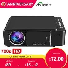 VIVICINE 1280x720p Portable HD Projector,Option Android 9.0 HDMI USB 1080p Home