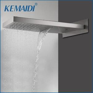 Квадратная душевая головка KEMAIDI из нержавеющей стали с водопадом и дождевой насадкой для ванной комнаты