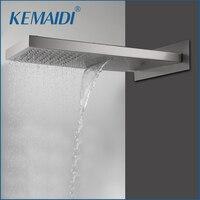 KEMAIDI Shower Head Square Stainless Steel Rainfall & Waterfall Shower Head Shower For Bathroom Rain Shower Head