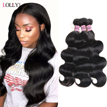 Lolly малазийский корпус пучки волнистых волос 100% человеческие волосы пучки 8-28 дюймов не Реми волосы переплетения расширения Бесплатная Прям...