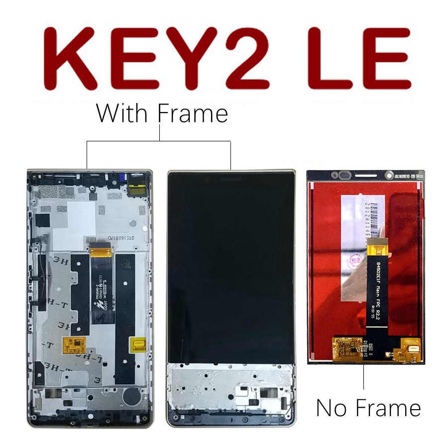 Original LCD For BlackBerry Key2 LE Display Touch Screen Digitizer With Frame For BlackBerry Key2 LE LCD Screen Replacement(China)