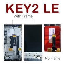 Original lcd para blackberry key2 le display digitador da tela de toque com quadro para blackberry key2 le lcd substituição da tela