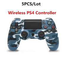 5PCS/1lot PS4 Controller Wireless Bluetooth Dual Shock 4 Joystick Gamepad For SONY Playstation 4 PC iPad Laptop Mobile Phone