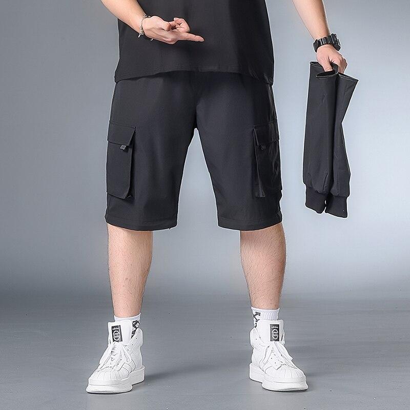 Men Autumn Jogging Hip Hop Pants Men New Harem Pants Large Size XL-7XL Men Street Style Cotton Casual Pants Detachable Pants