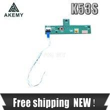 Novo!!!! Com cabo interruptor de alimentação em fora da placa de botão para For Asus a53s x53s k53s k53sv k53e k53sd k53sj testado bem
