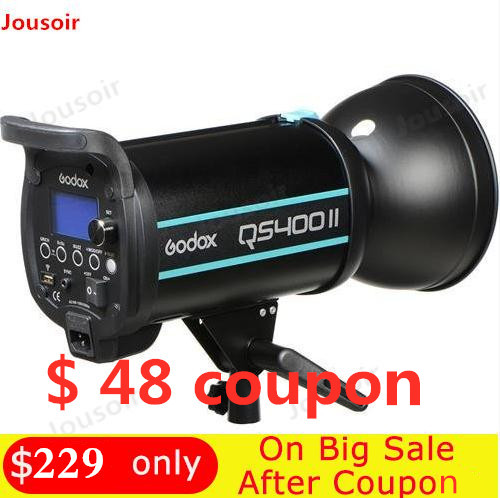 Godox QSII Series QS400II 400Ws Strobe Flash Modeling Light  5600K Color Temperature CD50 G Flashes     - title=
