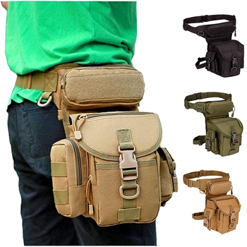 Hanging Tactical Bag Military Leg Bags Army Camouflage Hunting Cycling Camping Waist Hanging Molle Pack Nylon Thigh Drop Pouch