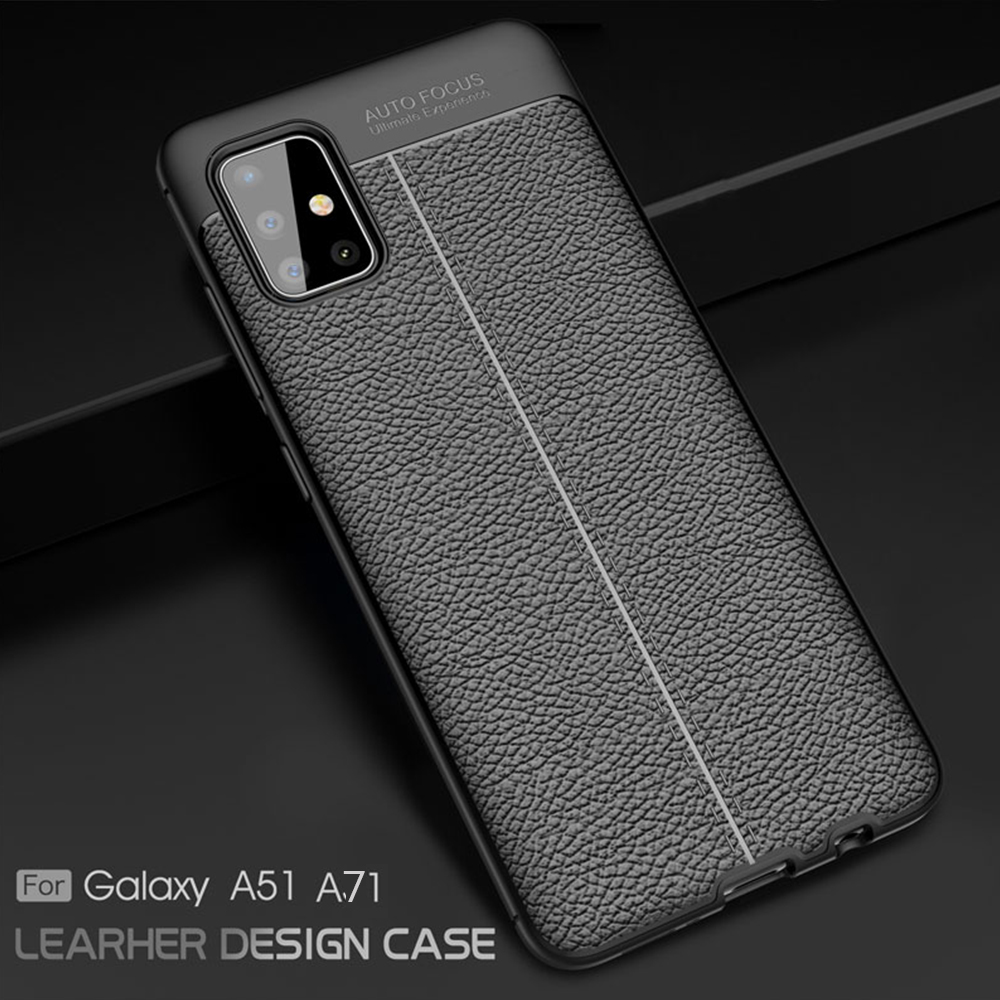 For Samsung Galaxy A51 A 51 Case Leather Style TPU Cover Shockproof Phone Case For Samsung A71 A 71 Cover Flex Silicone Bumper