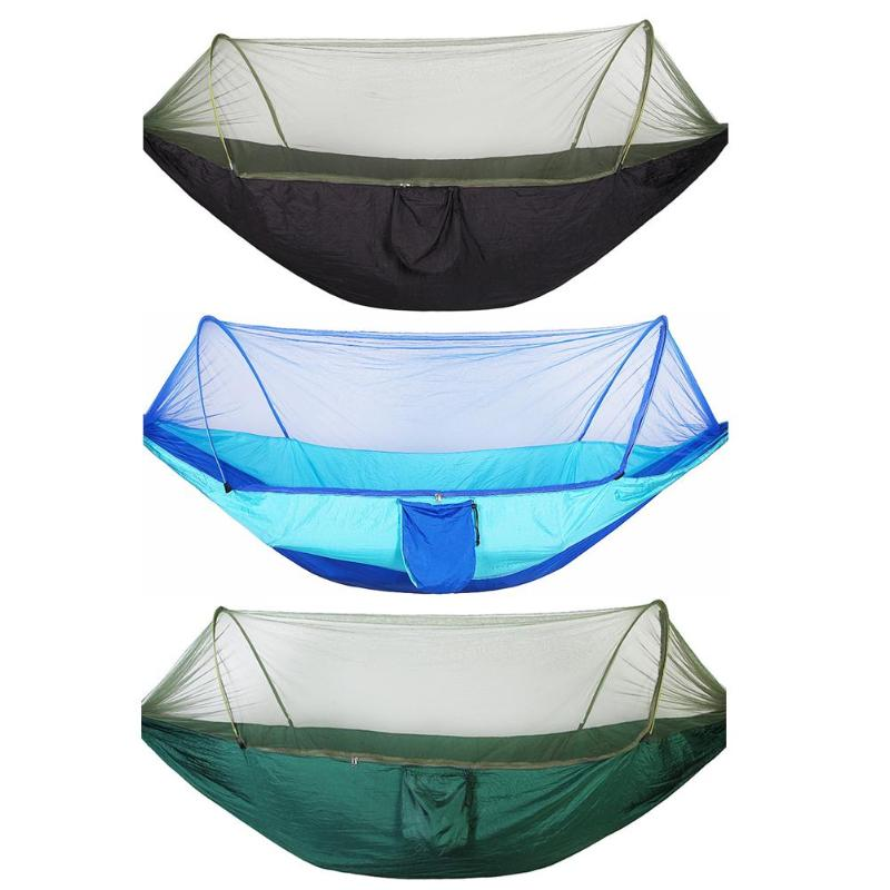 Hammock with Mosquito Net 2 Person Camping Swing Sleeping Bed Outdoor Travel UK