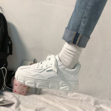 Женские белые кроссовки женские массивные женская модная обувь