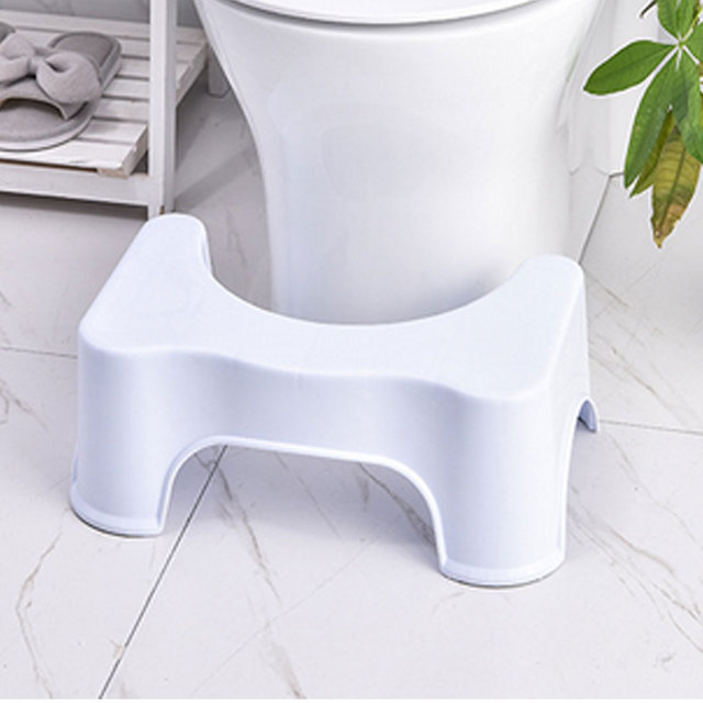 Thickened Non-Slip Bathroom Toilet Step Stool Elderly  Woman Child Stool Heightened Stool Baby Anti-Fall Toilet Stool 1
