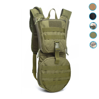 3L Outdoor Backpack Molle Military Tactical Hydrator Pouch Cycling Water Bag Camping Hiking Nylon Camel Bag SA 8