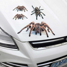 3D Car Sticker Simulation Spider lizard Scorpions Animals Decal Stickers DIY Car Bumper Styling Stickers Motorcycle Accessories
